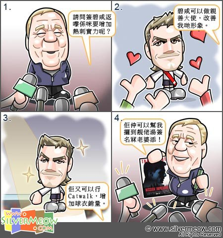 Football Comic Jan 11 - David Beckham:Harry Redknapp, David Beckham