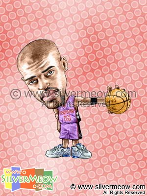 NBA Player Caricature - Vince Carter