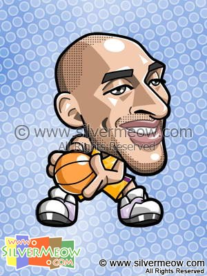 NBA Player Caricature - Kobe Bryant