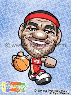 NBA Player Caricature - LeBron James
