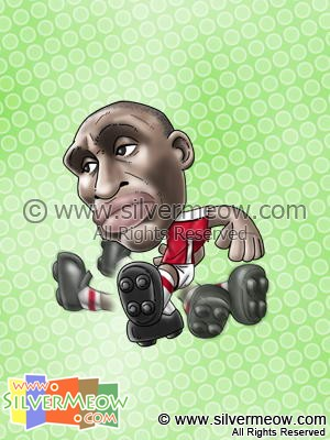 Soccer Player Caricature - Sol Campbell (Arsenal)