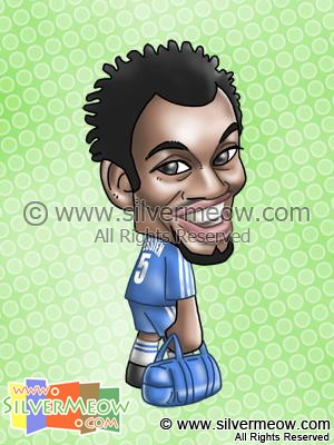 Soccer Player Caricature - Michael Essien (Chelsea)
