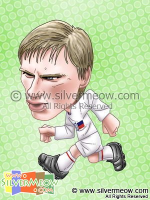 Soccer Player Caricature - Andrei Arshavin (Russia)