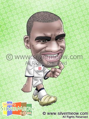 Soccer Player Caricature - Darren Bent (Tottenham)