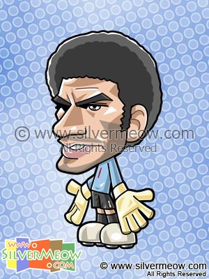 Soccer Toon - David James (England)
