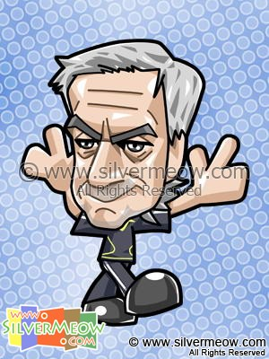 Soccer Toon - Jose Mourinho (Real Madrid)