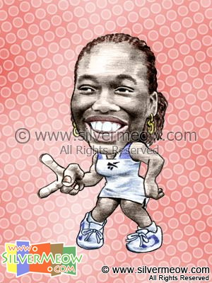 Sport Caricatures - Venus Williams (Tennis)