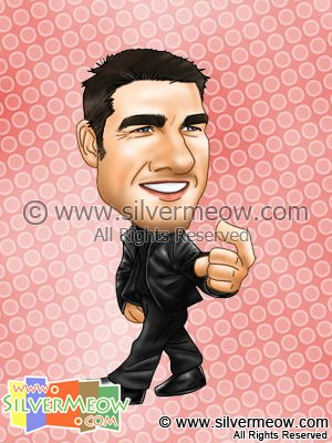Star Caricatures - Tom Cruise